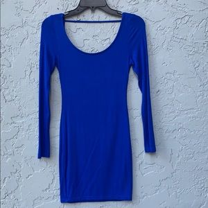 Tobi long sleeve cobalt blue dress xs